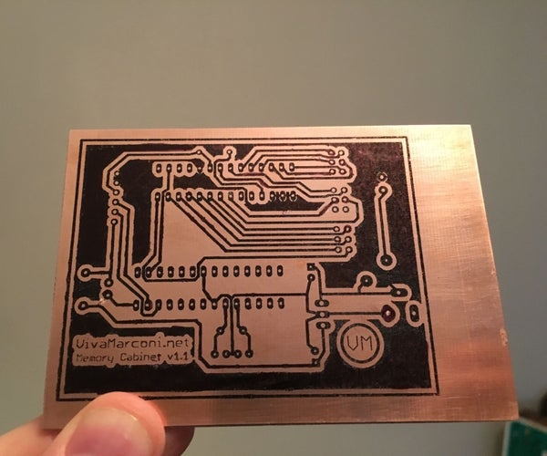 Etch a Circuit Board With Kitchen Supplies