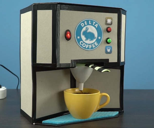 HOW TO MAKE COFFEE MACHINE FROM GLUE GUN HEATER
