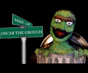 Oscar the Grouch From Sesame Street Makeup