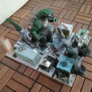 Cardboard Godzilla Diorama and Google Street View