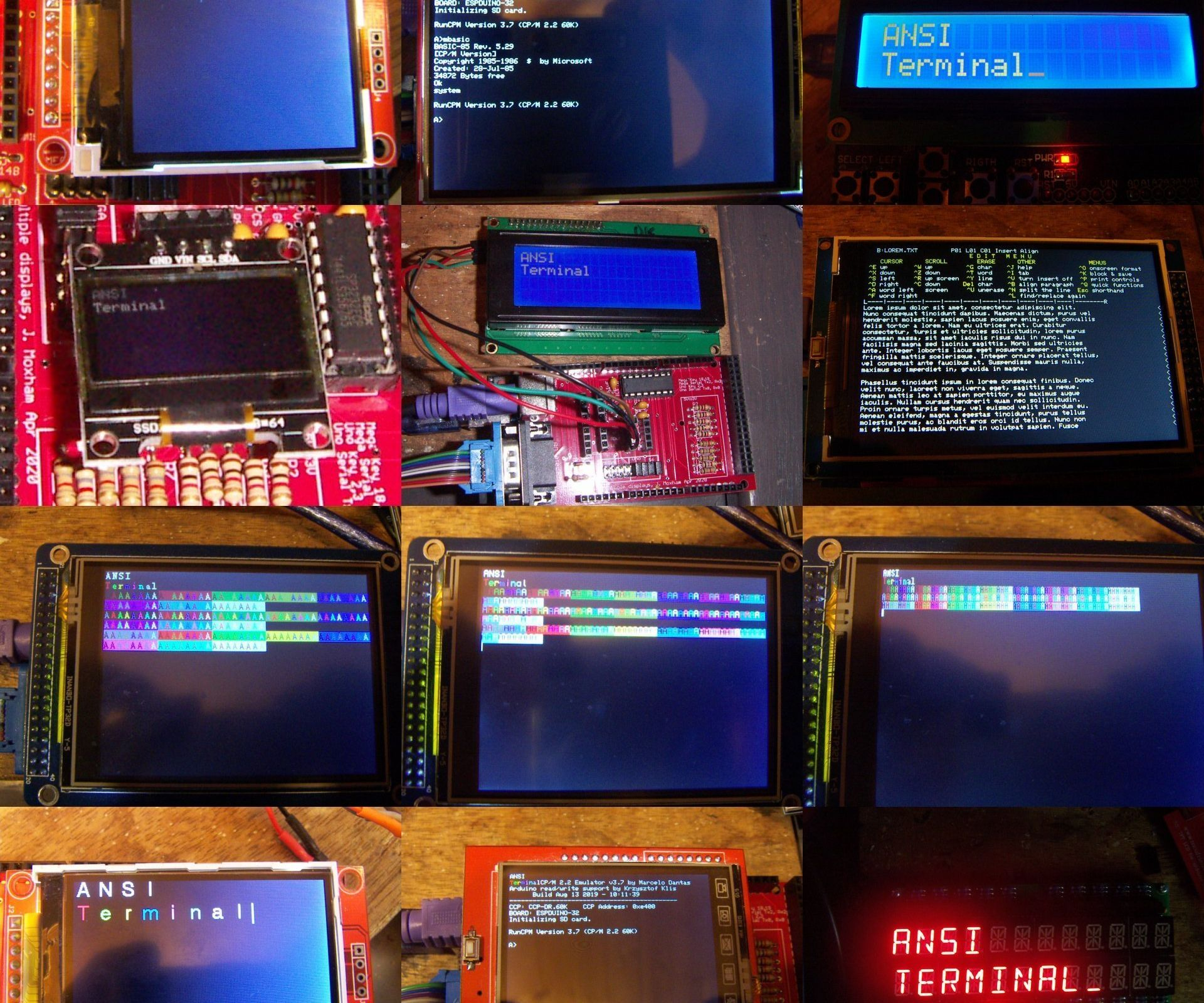 A Collection of ANSI Terminals