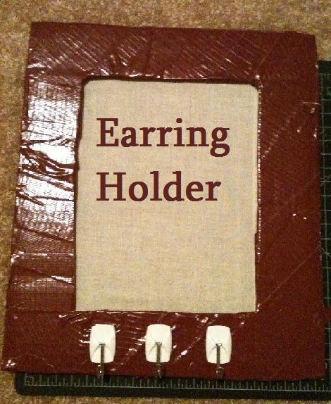 Earring Holder (made From Cardboard)