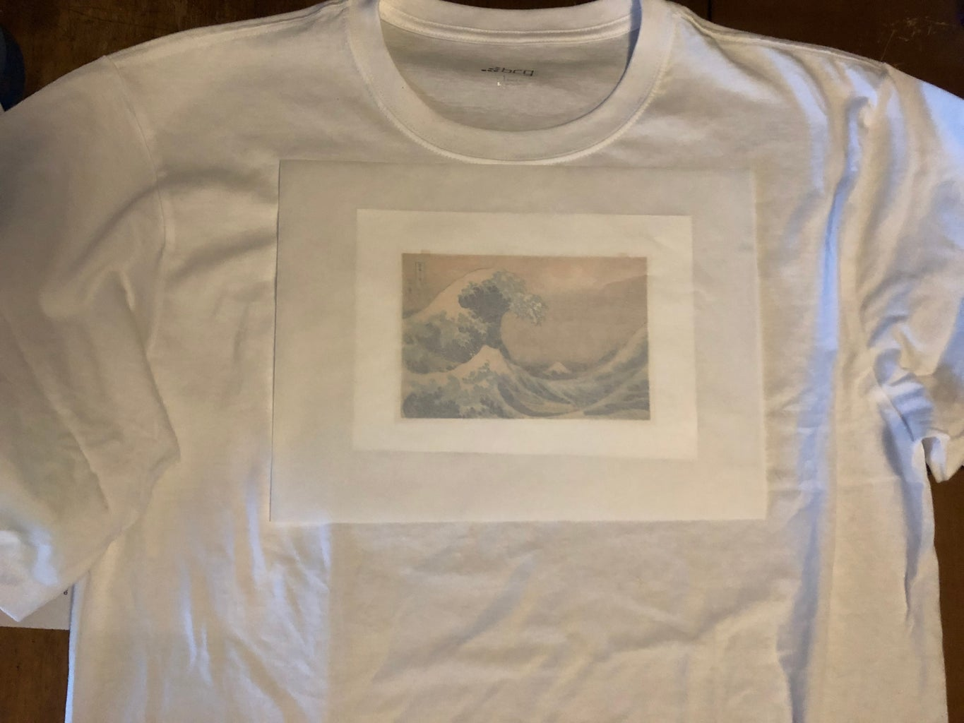 Place Transfer Paper