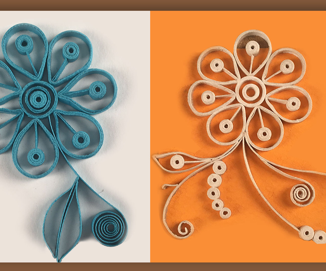 Quilling Designs | Wall Decorating Ideas | How To Make Looped Quilling Flowers