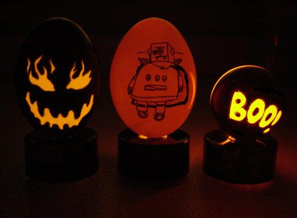 Spooky Halloween Eggs