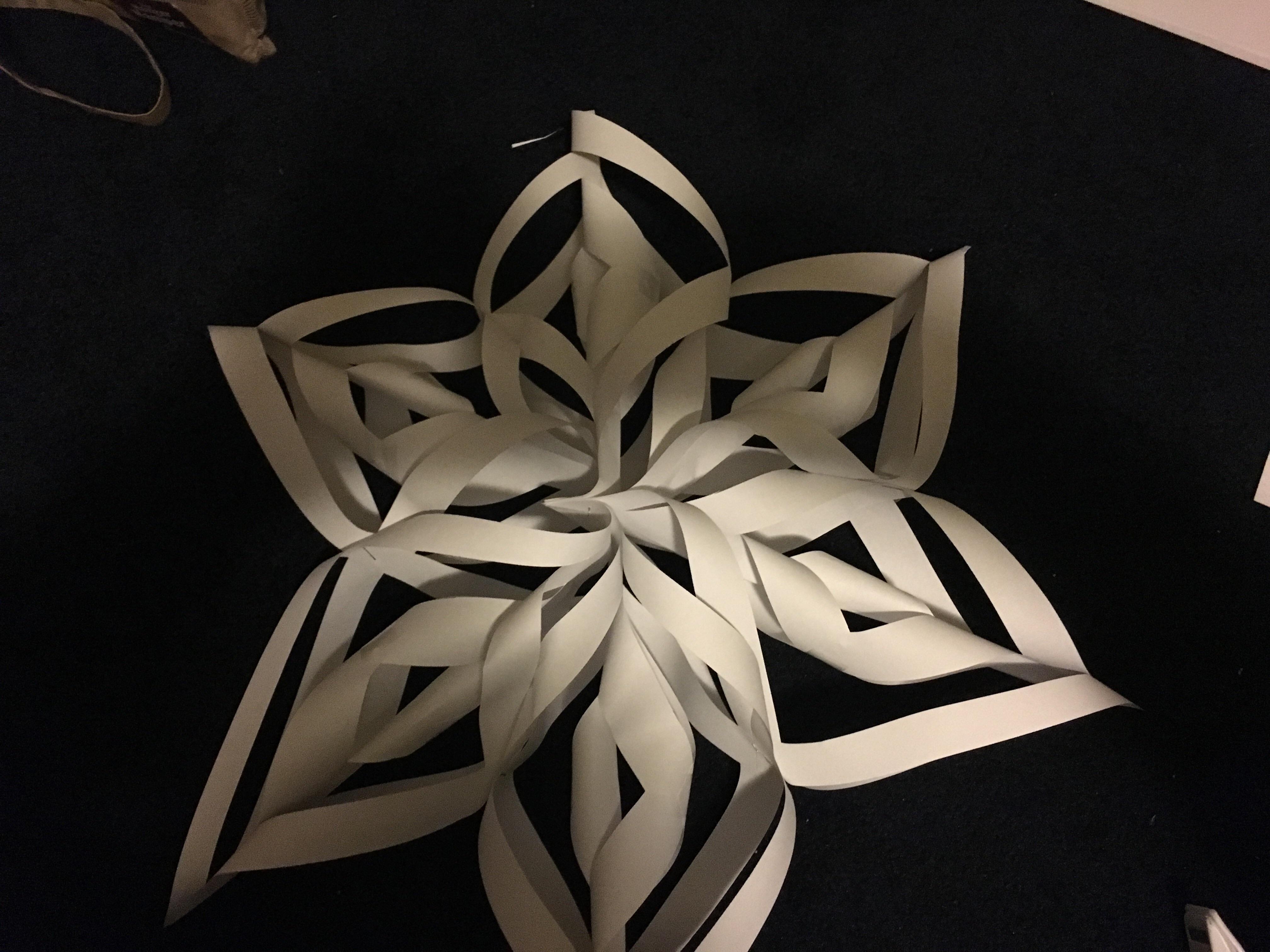 Paper Snowflake Wreath