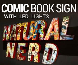 Comic Book LED Sign