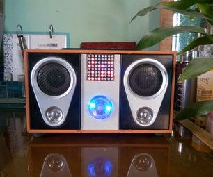 Desk Amplifier With Audio Visualization, Binary Clock & FM Receiver