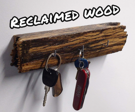 Key Holder Made From Old Wheelbarrow Handle