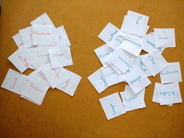 Creating the Bingo Pieces