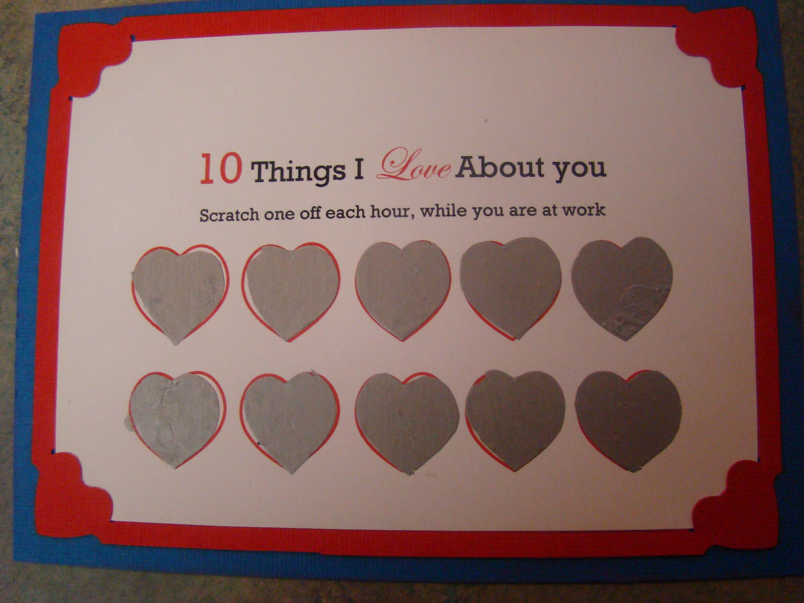 How to Make a Scratch-off Valentine