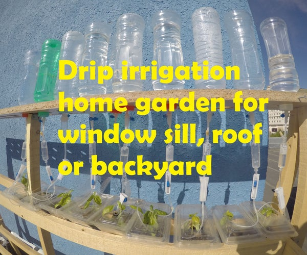 Drip Irrigation Home Garden for Window Sill, Roof or Backyard