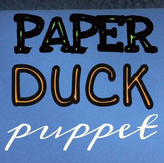 Paper Duck Puppet
