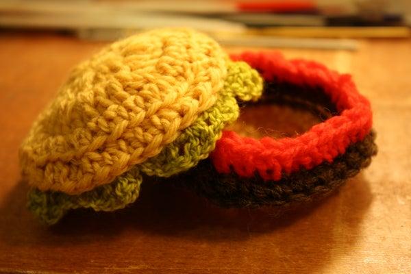 How to Build a Hamburger Trinket Box With Yarn!