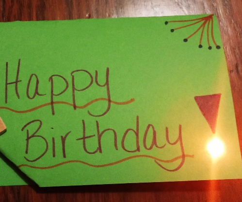 Glowing Greeting Card