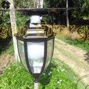 Lámpara de jardín de usos múltiples automática (lámpara de alta potencia de 12w, cargador USB con sensor de movimiento PIR)