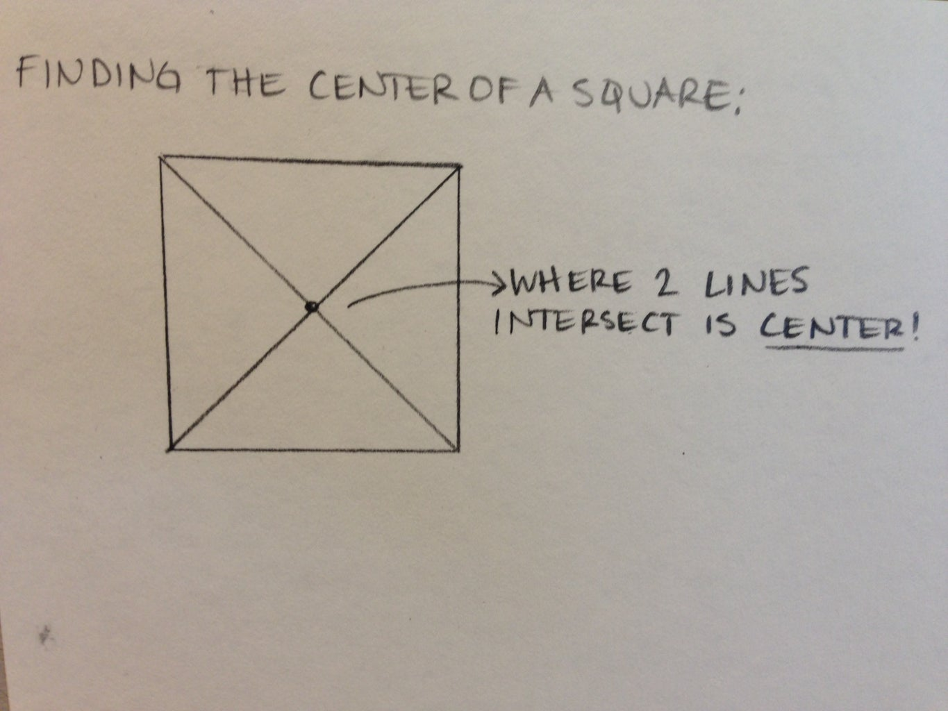 Finding the Center of a Square
