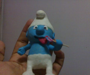 Make a Smurf Out of Modeling Clay