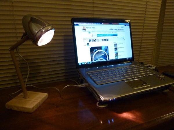 USB Bike Light Desk Lamp