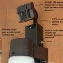 Dual-Brightness Motion-Sensing Patio Light