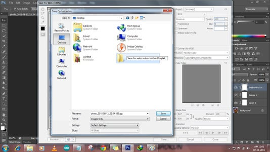 Create a New Folder and Save
