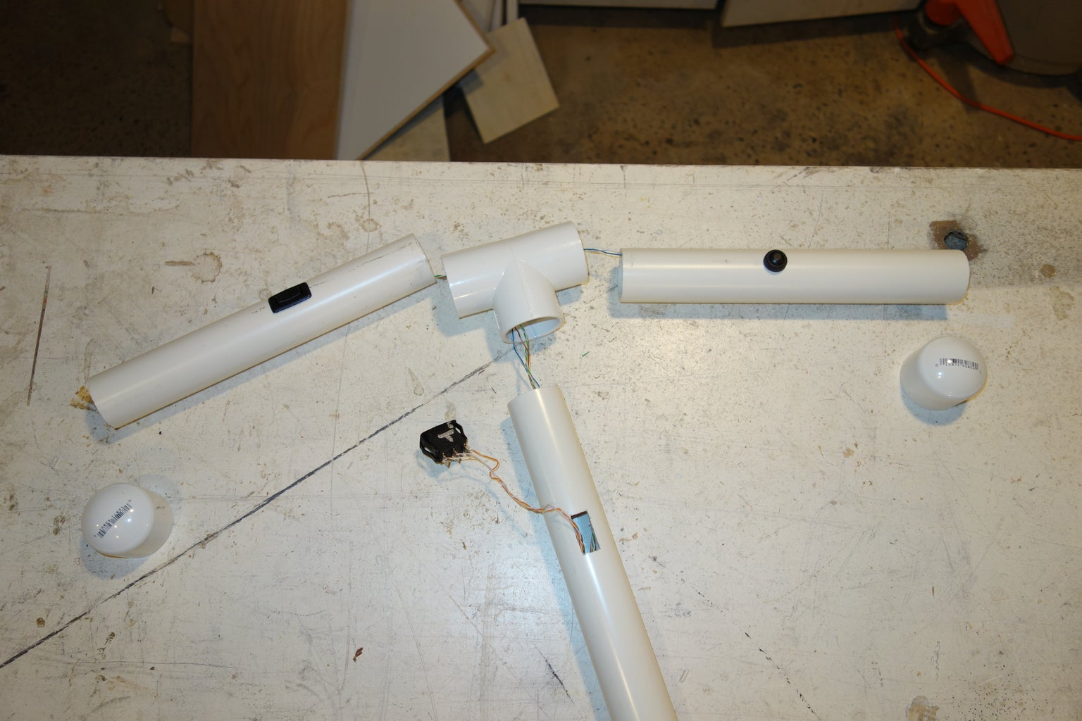 Install Switches in PVC