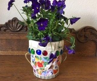 Broken China Flower Pot