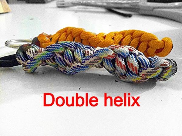 Double Helix Keychain