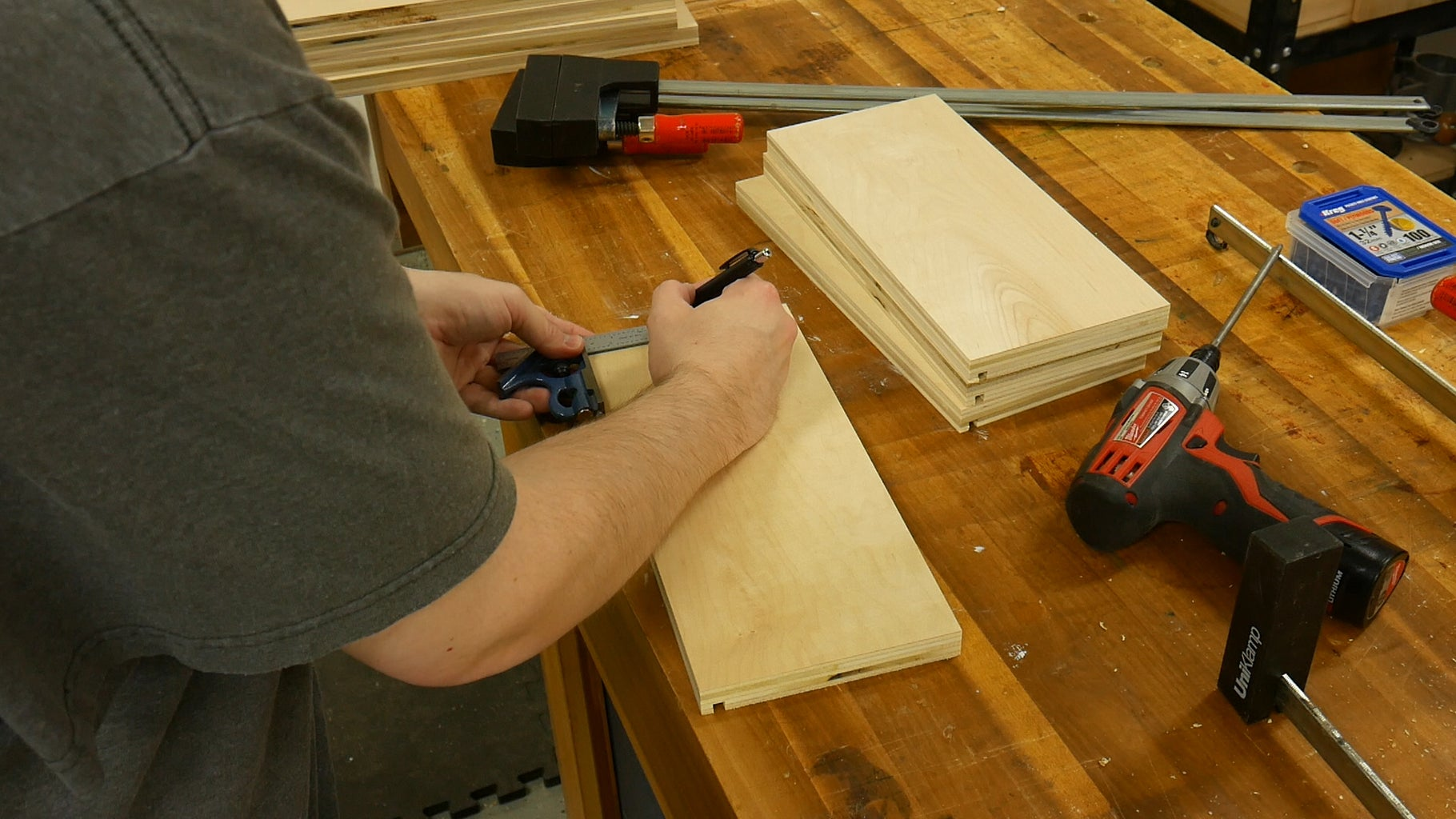 Cut Drawer Bottoms & Assemble the Drawers