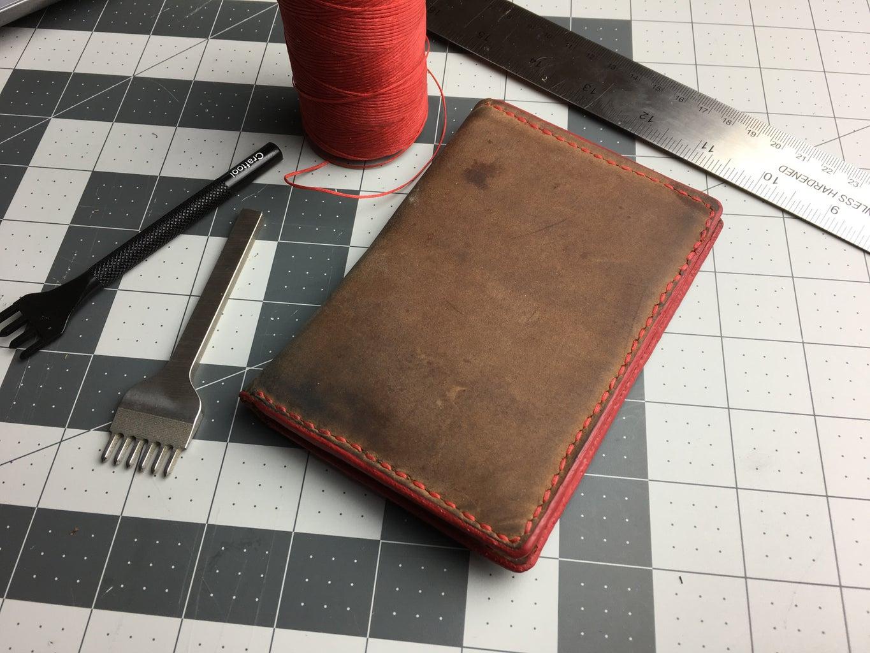 DIY Leather Passport Wallet