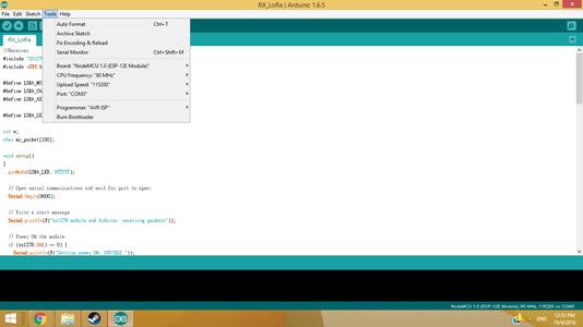 Programming the XL1276-D01 Using Arduino IDE 1.6.5