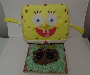 Chocolate Peppermint Spongebob Cake
