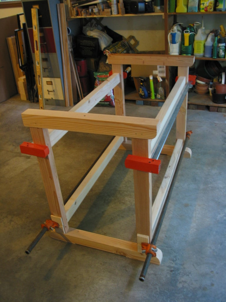 Add Stretchers to Complete the Base Assembly
