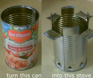 DIY Hobo Stove - the (Spaghetti Sauce Can) Cookstove