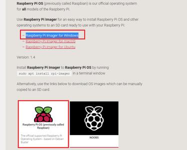Downloading Raspberry Pi OS Image