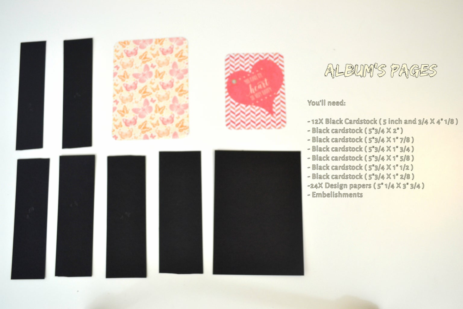 Making the Album Pages: Dimensions