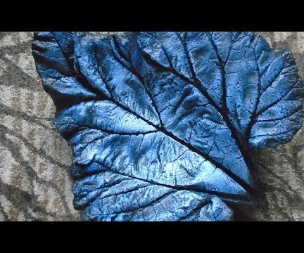 Concrete Leaf Painting - Natural Blue Style
