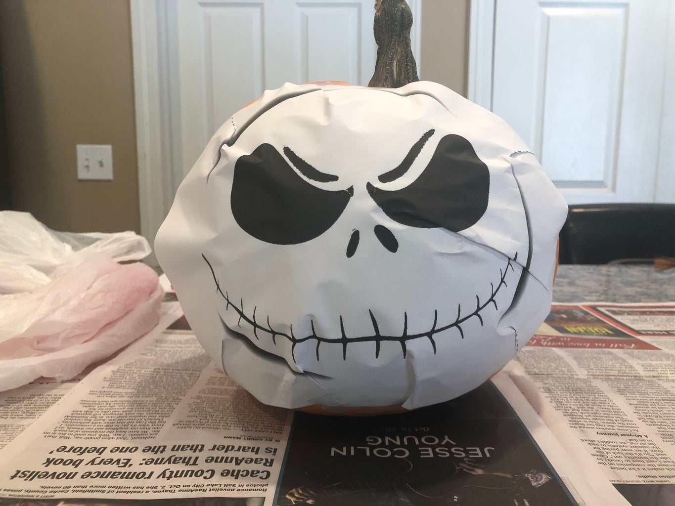 Placing the Pattern on the Pumpkin