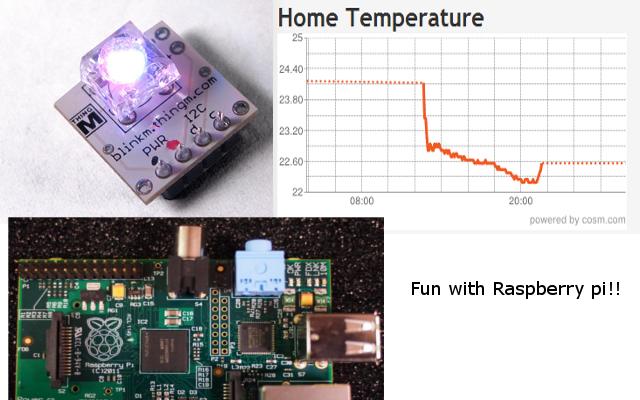 Raspberry pi loves Sensors and LEDs