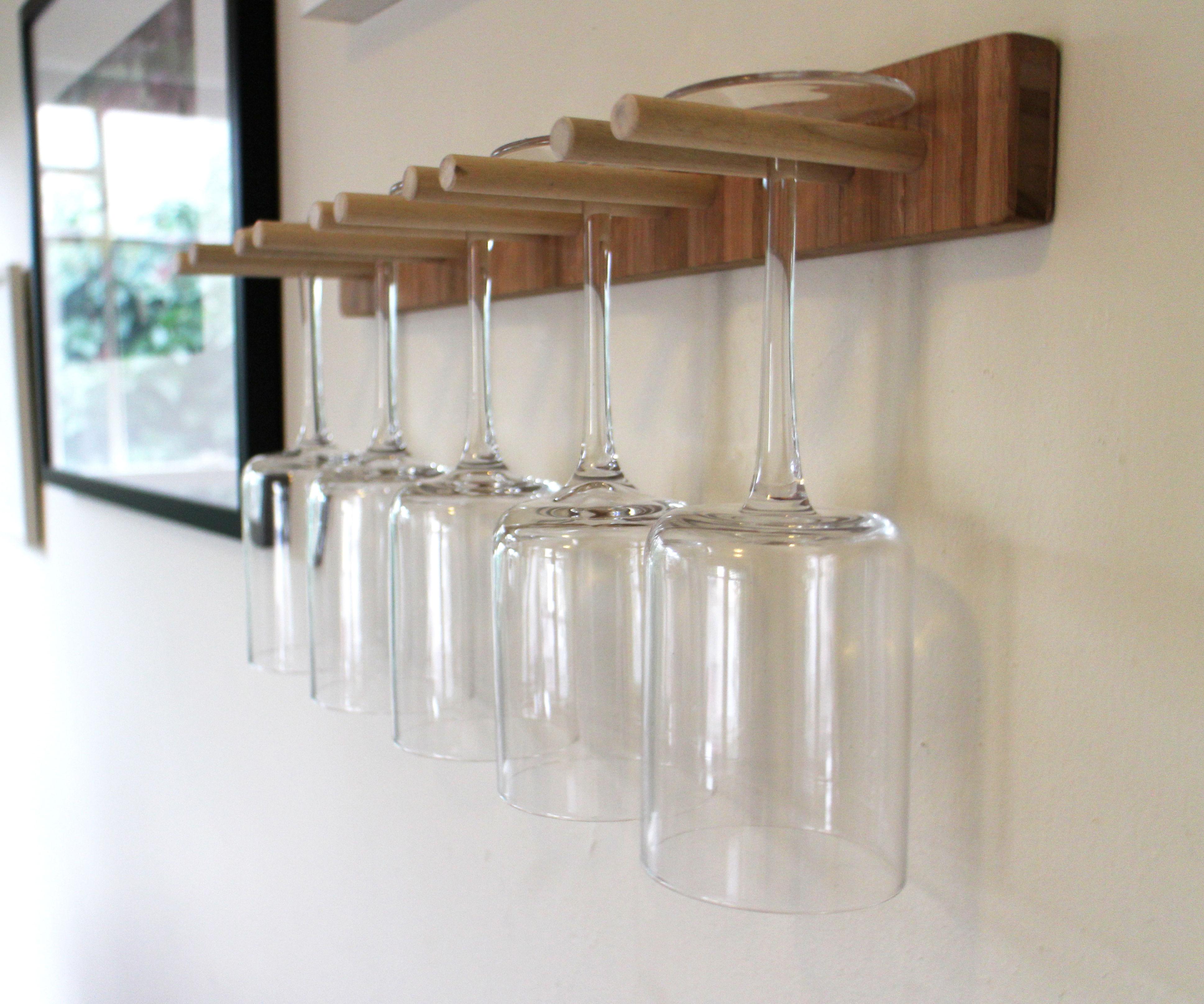 Scrap Wood Wine Glass Rack