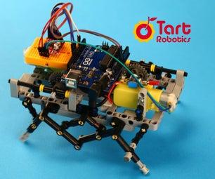 一个DIY六足机器人与Arduino,3D打印,乐高兼容的部分