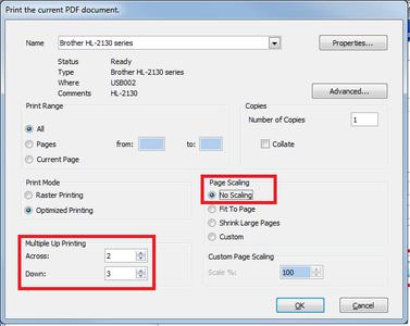 Printer Settings for Toner Transfer