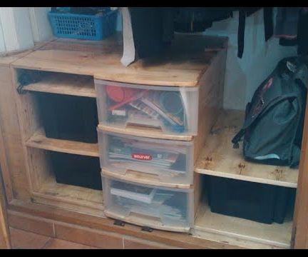 closed installation ( salvaged materials )