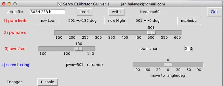 Servo Calibrator GUI