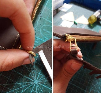Get Through Puller, and Then Sew Stitch Holes Together, Then Glue Tape On.