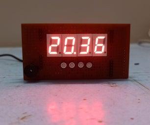 DIY Digital Clock Using ATmega328p, RTC DS3231  and Seven Segment Displays
