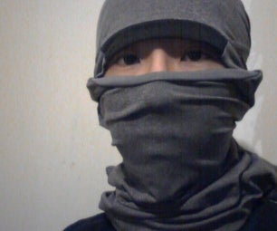 How to Wrap Your Face Like a Ninja Using a Shirt