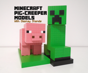 Minecraft: Pig & Creeper Models
