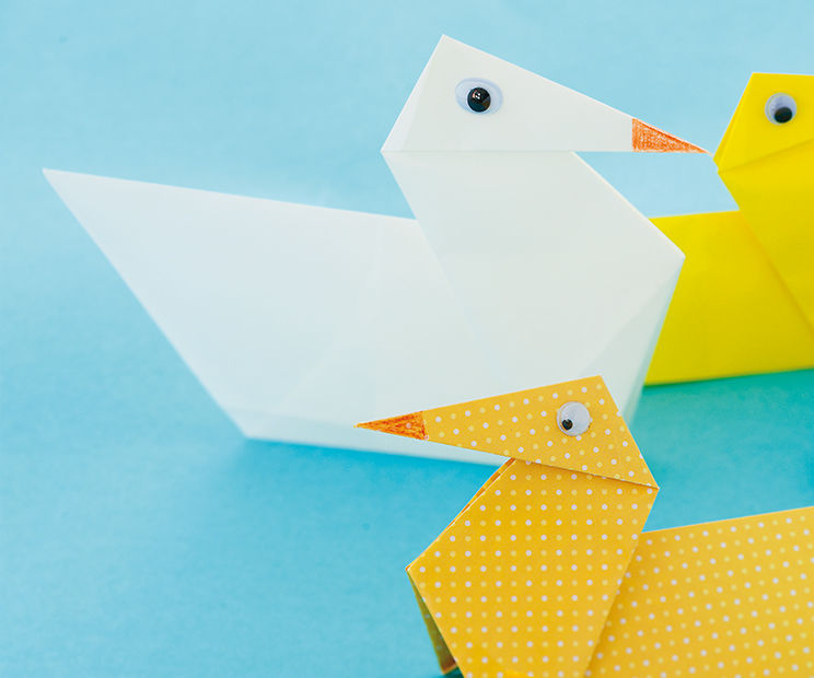 Paper Folding How To: ducks bobbing on a lake