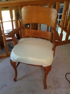Vintage Chair to Vintage Flair (Upholstering a Wooden Chair)